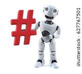 3d render of a cartoon robot... | Shutterstock . vector #627767501