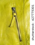 Green Leather Jacket Zippers....