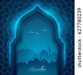 ramadan kareem islamic greeting ... | Shutterstock .eps vector #627780239
