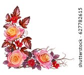 Floral Background. Isolated On...