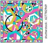 a fabulous and fun print.... | Shutterstock .eps vector #627782969