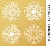 laser cutting templates set....   Shutterstock .eps vector #627787391