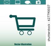 shopping cart icon | Shutterstock .eps vector #627790037