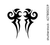 tattoo tribal vector designs.... | Shutterstock .eps vector #627800219