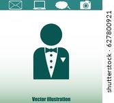 butler icon | Shutterstock .eps vector #627800921