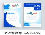 brochure dental stomatology... | Shutterstock .eps vector #627802709