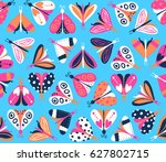 seamless pattern with different ... | Shutterstock .eps vector #627802715