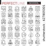 school education outline... | Shutterstock .eps vector #627805301