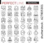 school education outline... | Shutterstock .eps vector #627805301