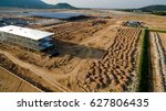 aerial view construction site... | Shutterstock . vector #627806435