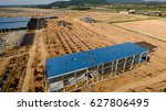 aerial view construction site... | Shutterstock . vector #627806495