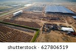 aerial view construction site... | Shutterstock . vector #627806519