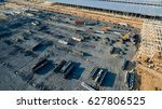 aerial view construction site... | Shutterstock . vector #627806525