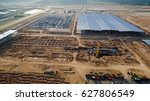 aerial view construction site... | Shutterstock . vector #627806549