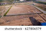 aerial view construction site... | Shutterstock . vector #627806579