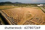 aerial view construction site... | Shutterstock . vector #627807269