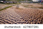 aerial view construction site... | Shutterstock . vector #627807281