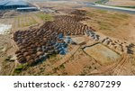 aerial view construction site... | Shutterstock . vector #627807299