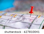 travel destination pin points... | Shutterstock . vector #627810041