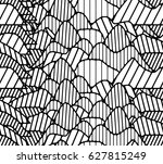 graphic linear pattern | Shutterstock .eps vector #627815249