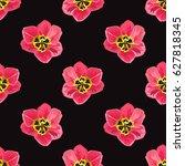 elegant seamless pattern with... | Shutterstock .eps vector #627818345