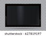 tv  modern blank screen lcd ... | Shutterstock .eps vector #627819197