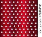 stars pattern in retro red... | Shutterstock .eps vector #627820535