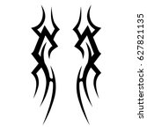 tattoo tribal vector design.... | Shutterstock .eps vector #627821135