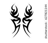 tattoo tribal vector design.... | Shutterstock .eps vector #627821144