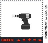 drill icon flat. simple... | Shutterstock . vector #627823721