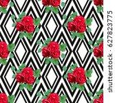 elegant seamless pattern with... | Shutterstock .eps vector #627823775