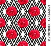 elegant seamless pattern with... | Shutterstock .eps vector #627823805