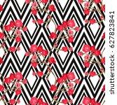 elegant seamless pattern with... | Shutterstock .eps vector #627823841