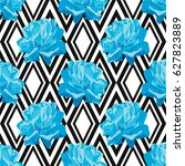 elegant seamless pattern with... | Shutterstock .eps vector #627823889