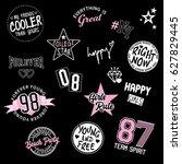 varsity graphic for t shirt | Shutterstock . vector #627829445