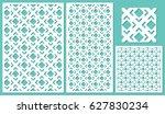 set of decorative panels laser... | Shutterstock .eps vector #627830234