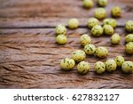 blurred roasted peanuts with... | Shutterstock . vector #627832127
