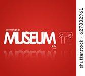 museum vector illustration. | Shutterstock .eps vector #627832961