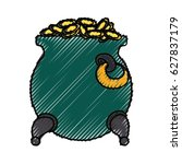 gold pot isolated | Shutterstock .eps vector #627837179