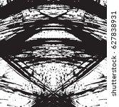 black and white vintage grunge... | Shutterstock .eps vector #627838931