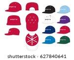 sportswear snap caps    front ... | Shutterstock .eps vector #627840641