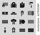 Wall Icons Set. Set Of 16 Wall...