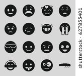 character icons set. set of 16... | Shutterstock .eps vector #627855401