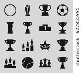 championship icons set. set of... | Shutterstock .eps vector #627855995