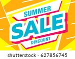 summer sale template banner in... | Shutterstock .eps vector #627856745