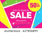 sale template banner in bright... | Shutterstock .eps vector #627856895