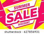 summer sale template banner in... | Shutterstock .eps vector #627856931