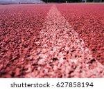 track sport texture running  | Shutterstock . vector #627858194