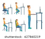 different types seats. saddle... | Shutterstock .eps vector #627860219