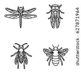 insects vector icons   Shutterstock .eps vector #627871964